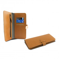 KSIX UNIVERSAL WALLET CASE FOR SMARTPHONES UP TO 5,5 INCHES ORANGE