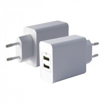 KSIX WALL CHARGER 1 USB + 1...