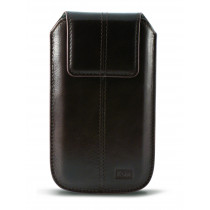 KSIX APOLLO UNIVERSAL LEATHER POUCH FOR SMARTPHONE XL (124 X 68 X 13 MM) BROWN