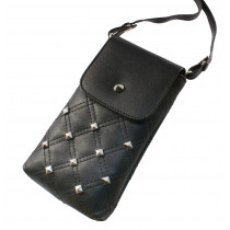 KSIX SANDY ROCK UNIVERSAL POUCH WITH STRAP FOR SMARTPHONE UP TO 6 INCHES BLACK