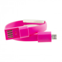 CONTACT CABLE BRACELET MICRO USB-USC SYNC & CHARGE PINK