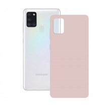 SILK CASE FOR GALAXY A21S PINK