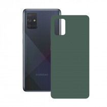 SILK CASE FOR GALAXY A71 GREEN
