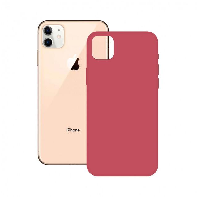 SOFT SILICONE CASE KSIX FOR iPhone 12 PINK FUCHSIA