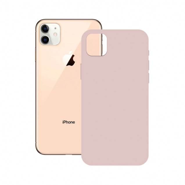 SOFT SILICONE CASE KSIX FOR iPhone 12 PINK