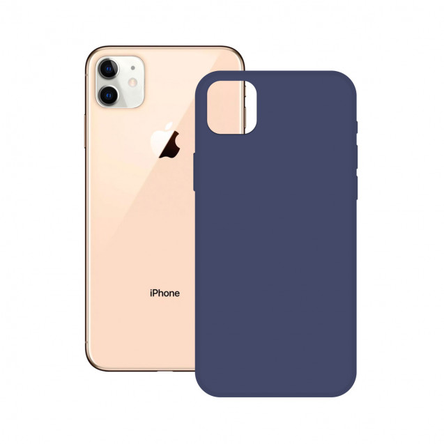 SOFT SILICONE CASE KSIX FOR iPhone 12 MAX, PRO BLUE
