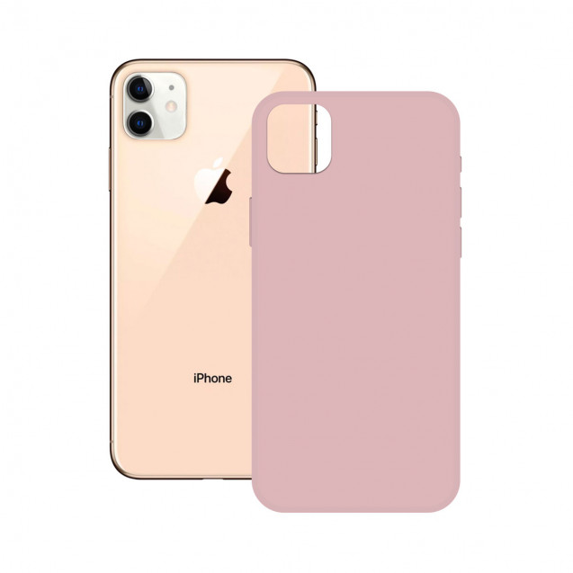 SOFT SILICONE CASE KSIX FOR iPhone 12 MAX, PRO PINK